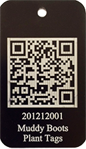 QR Code Scannable Plant Tag